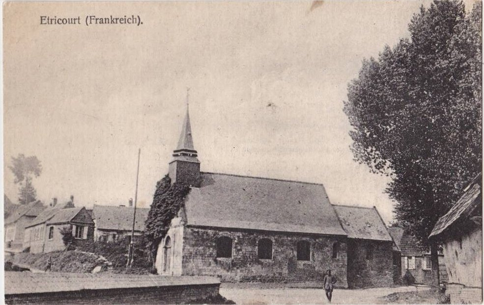 Eglise d'Etricourt Manancourt